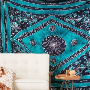 Urban Outfitters Locust Blue Batik Tapestry